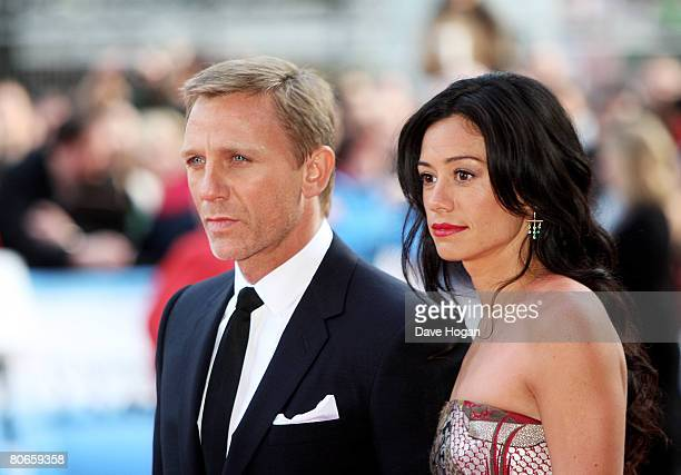 Actor Daniel Craig and his girlfriend Satsuki Mitchell arrive at the UK premiere of 'Flashbacks of a Fool' at the Empire cinema Leicester Square on...