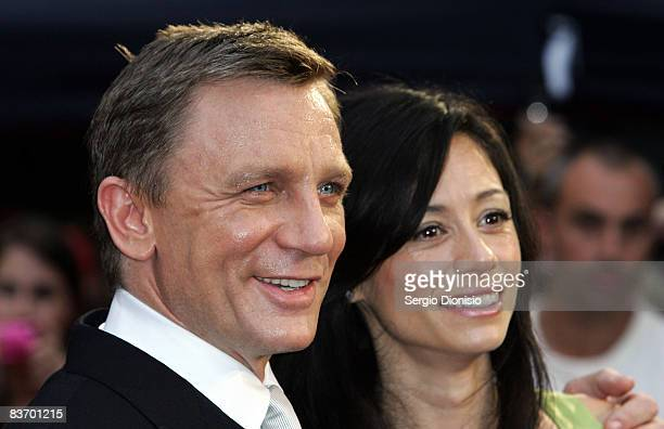 Actor Daniel Craig and Satuski Mitchell arrive for the Australian premiere of 'Quantum of Solace' at the Hoyts Cinema in the Entertainment Quarter on...