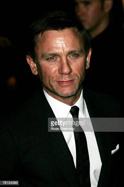Actor Daniel Craig arrives at the tenth annual British Independent Film Awards at the Roundhouse Camden on November 28 2007 in London England
