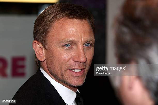 Actor Daniel Craig arrives at the UK premiere of 'Flashbacks of a Fool' at the Empire cinema Leicester Square on April 13 2008 in London England