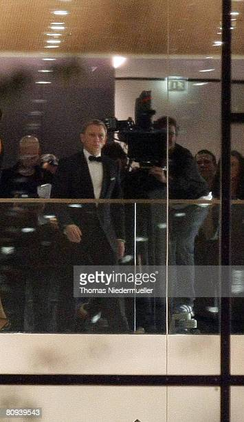 """Actor Daniel Craig, as James Bond, is seen on the set of the latest Bond film, """"Quantum of Solace,"""" the 22nd in the saga, April 29, 2008 in the old..."""