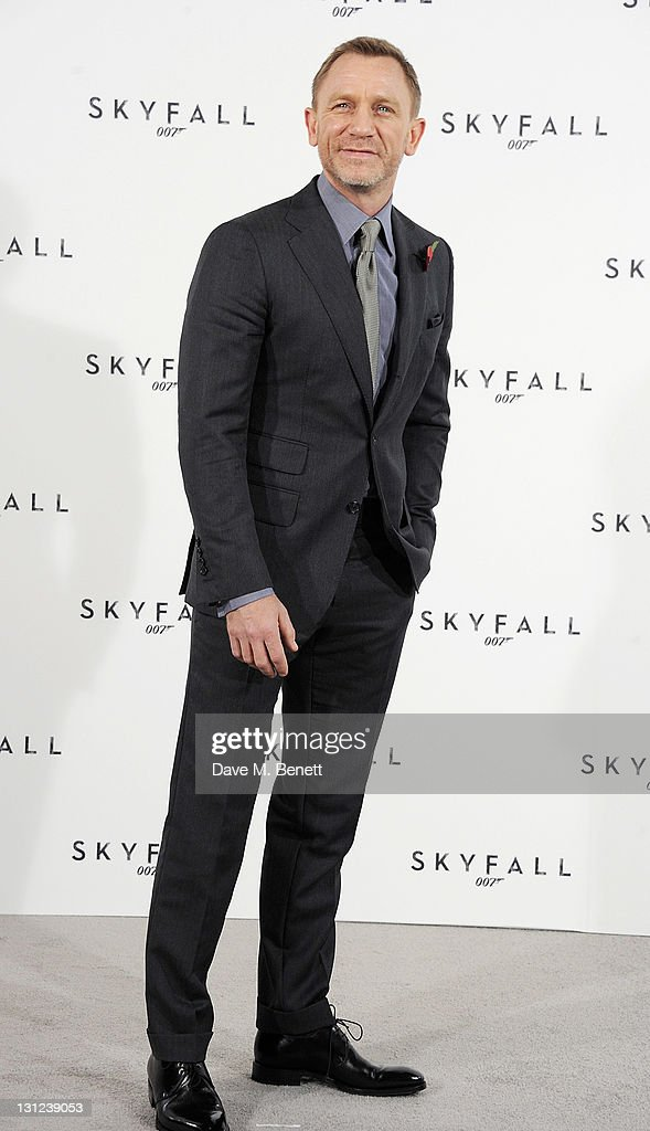 Actor Daniel Craig attends a photocall with cast and filmmakers to mark the start of production which is due to commence on the 23rd Bond Film and announce the title of the film as 'Skyfall' at Massimo Restaurant & Oyster Bar on November 3, 2011 in London, United Kingdom.