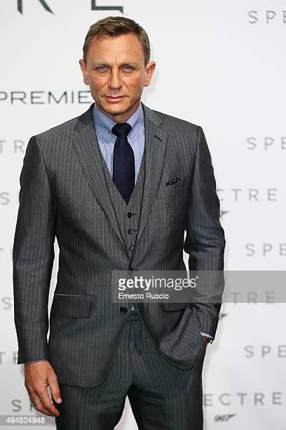 Actor Daniel Craig attends a premiere for 'Spectre' at Auditorium Della Conciliazione on October 27 2015 in Rome Italy