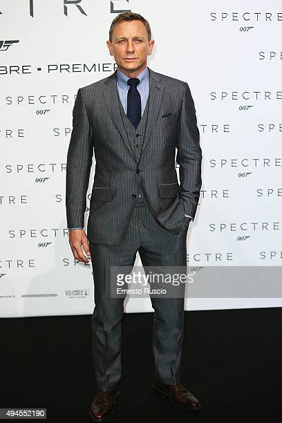 Actor Daniel Craig attends a premiere for 'Spectre' at Auditorium Della Conciliazione on October 27 2015 in Rome Italy