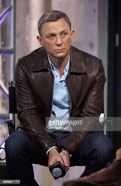 Actor Daniel Craig attends AOL BUILD Series Presents Spectre at AOL Studios In New York on November 5 2015 in New York City