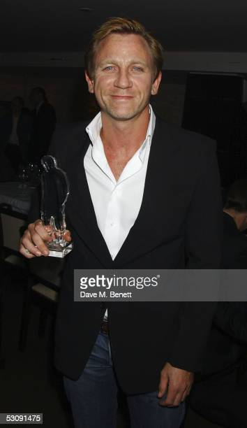 Actor Daniel Craig attends Arena and O2 hosted party at Benares Restaurant Berkeley Square on June 8 2005 in London England