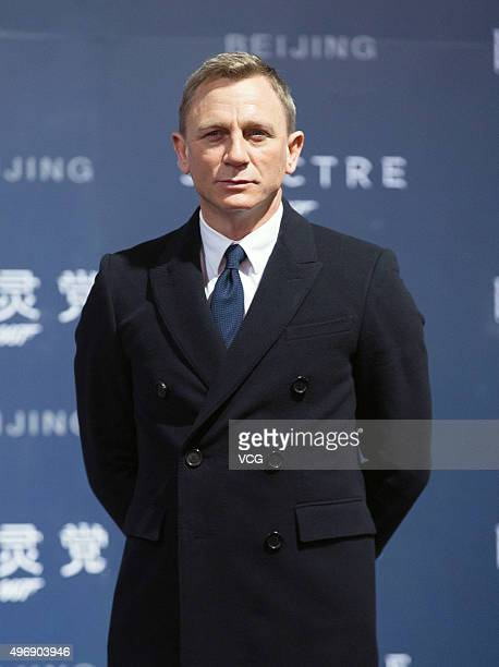 Actor Daniel Craig attends 'Spectre' premiere at The Place on November 12 2015 in Beijing China