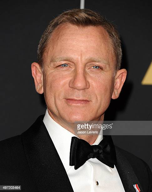 Actor Daniel Craig attends the 7th annual Governors Awards at The Ray Dolby Ballroom at Hollywood Highland Center on November 14 2015 in Hollywood...
