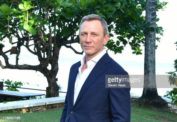 Actor Daniel Craig attends the Bond 25 film launch at Ian Fleming's Home ÒGoldenEye on April 25 2019 in Montego Bay Jamaica