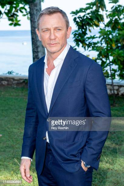 Actor Daniel Craig attends the Bond 25 Film Launch at Ian Fleming's Home GoldenEye on April 25 2019 in Montego Bay Jamaica