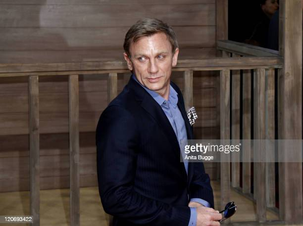 Actor Daniel Craig attends the 'Cowboys Aliens' premiere at the Cinestar movie theater on August 8 2011 in Berlin Germany