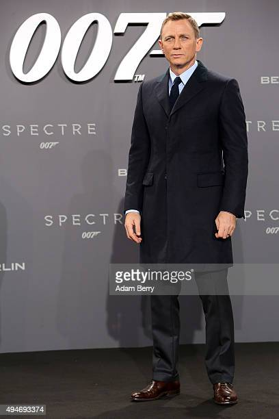 Actor Daniel Craig attends the German premiere of the new James Bond movie 'Spectre' at CineStar on October 28, 2015 in Berlin, Germany.