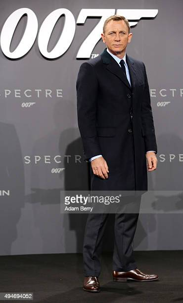 Actor Daniel Craig attends the German premiere of the new James Bond movie 'Spectre' at CineStar on October 28 2015 in Berlin Germany