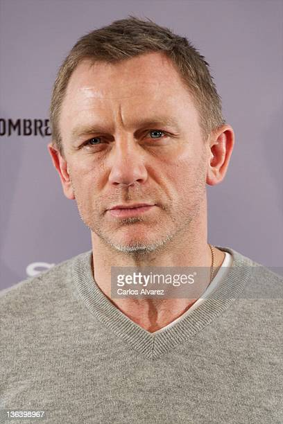 Actor Daniel Craig attends 'The Girl With The Dragon Tattoo' photocall at Villamagna Hotel on January 4 2012 in Madrid Spain