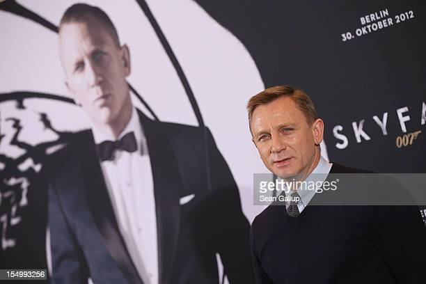 Actor Daniel Craig attends the photocall for Skyfall on October 30 2012 in Berlin Germany