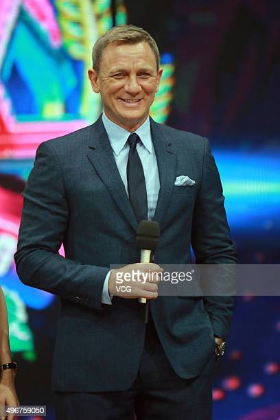 Actor Daniel Craig attends the recording of TV program 'Day Day Up' on November 11 2015 in Changsha Hunan Province of China