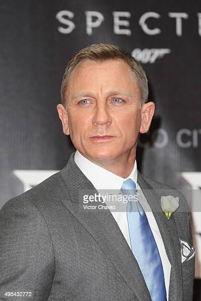 "Actor Daniel Craig attends the ""Spectre"" Mexico City premiere at Auditorio Nacional on November 2, 2015 in Mexico City, Mexico."
