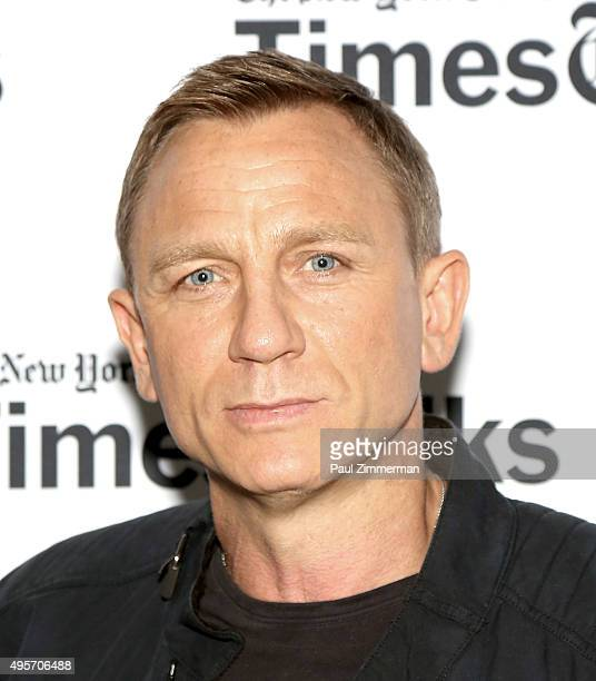 Actor Daniel Craig attends Times Talks Presents 'Spectre' An Evening With Daniel Craig And Sam Mendes at The New School on November 4 2015 in New...