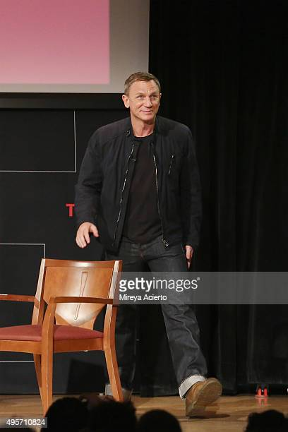 Actor Daniel Craig attends Times Talks Presents Spectre An Evening With Daniel Craig and Sam Mendes at The New School on November 4 2015 in New York...