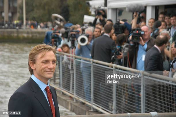 Actor Daniel Craig being presented to the press at St Catharines's dock as the new James Bond, London, 14 October 2005.