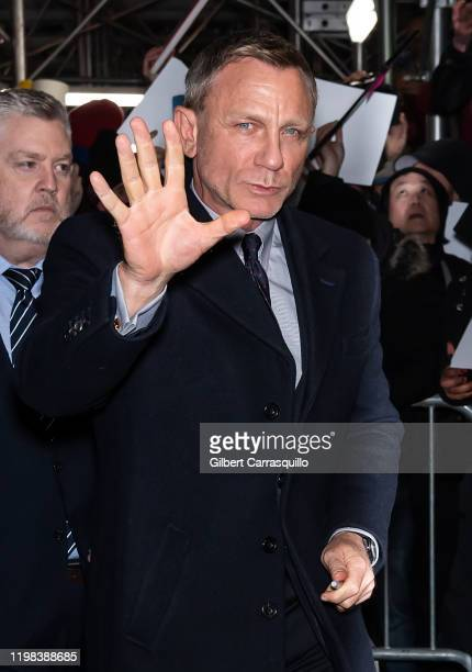 Actor Daniel Craig is seen arriving to the 2020 National Board Of Review Gala at Cipriani 42nd Street on January 08 2020 in New York City