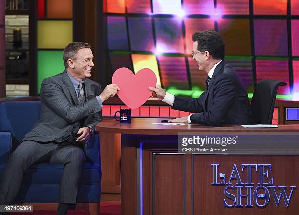 Actor Daniel Craig on The Late Show with Stephen Colbert Wednesday Nov 4 2015 on the CBS Television Network