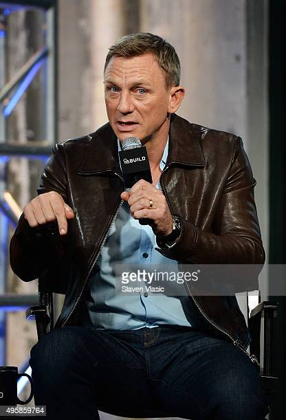 Actor Daniel Craig visits AOL BUILD to discuss his latest movie in the Bond series Spectre at AOL Studios In New York on November 5 2015 in New York...