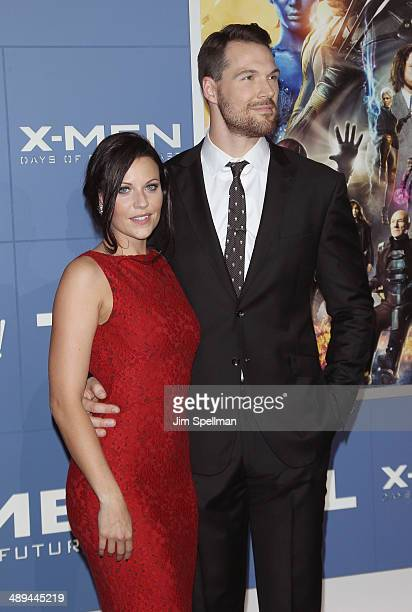 Actor Daniel Cudmore and wife Stephanie Rae Cudmore attend the 'XMen Days Of Future Past' World Premiere Outside Arrivals at Jacob Javits Center on...