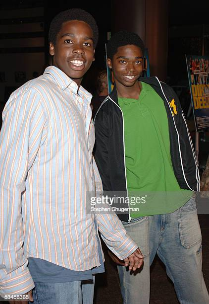 Actor Daniel Curtis Lee and actor Nathaniel Lee attend the world premiere of Dirty Deeds at the Directors Guild of America on August 23 2005 in Los...