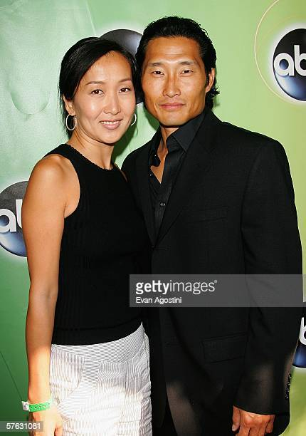 Actor Daniel Dae Kim and his wife attend the ABC Television Network Upfront at Lincoln Center May 16 2006 in New York City