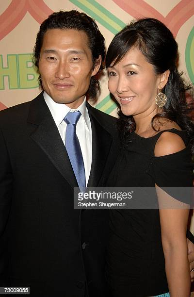Actor Daniel Dae Kim and wife arrive at HBO's Post Golden Globe After Party held at the Beverly Hilton on January 15 2007 in Beverly Hills California
