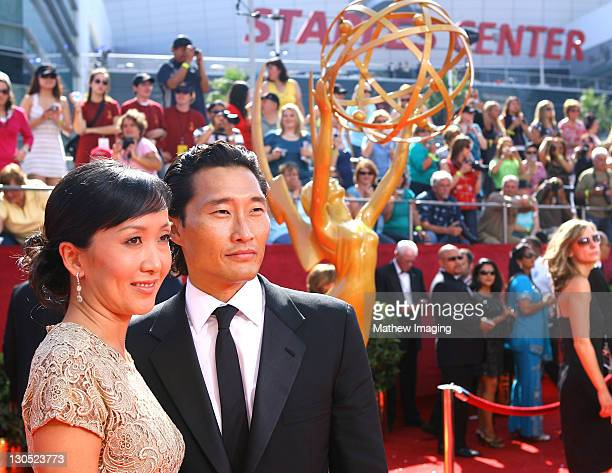 ACCESS*** Actor Daniel Dae Kim and wife attend the 60th Primetime Emmy Awards held at the NOKIA Theatre on September 21 2008 in Los Angeles California