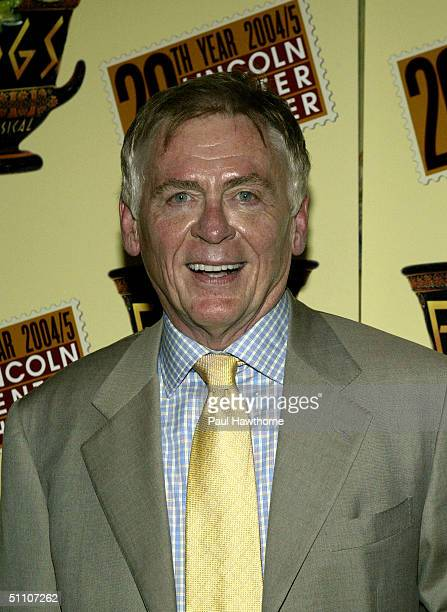 """Actor Daniel Davis attends the opening night party for """"The Frogs"""" on July 22, 2004 at Tavern on the Green, in New York City."""