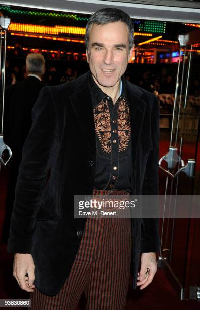 Actor Daniel Day Lewis attends the 'Nine' world film premiere at the Odeon Leicester Square on December 3 2009 in London England