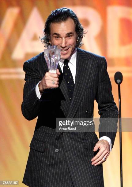 Actor Daniel DayLewis accepts the award for 'Best Actor' onstage during the 13th annual Critics' Choice Awards held at the Santa Monica Civic...