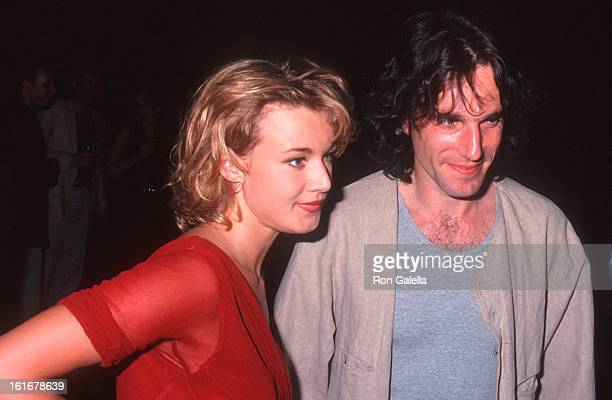 Actor Daniel DayLewis and actress Emily Lloyd attend the Second Annual 'Boathouse Rock' Dance Party to Benefit amfAR on June 28 1993 at the Central...