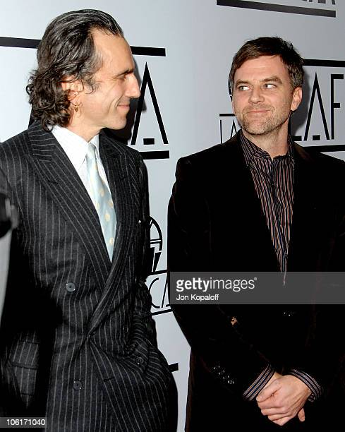 Actor Daniel DayLewis and director Paul Thomas Anderson arrive to The 33rd Annual Los Angeles Film Critics Awards at the InterContinental Hotel on...