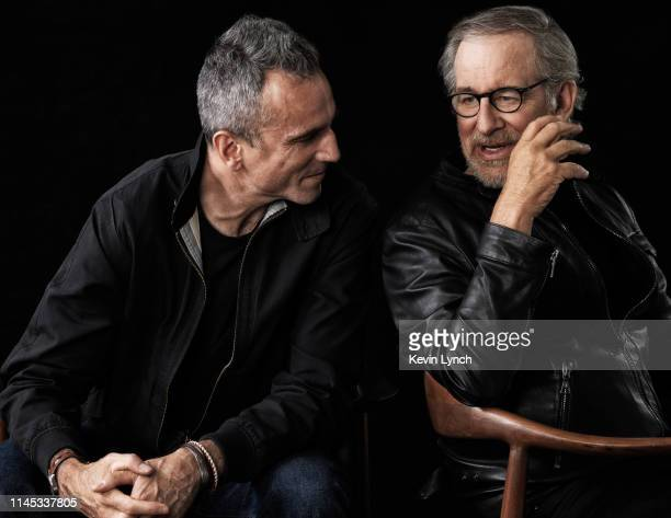 Actor Daniel Day-Lewis and director Steven Spielberg are photographed for DreamWorks on September 4, 2012 in New York City.
