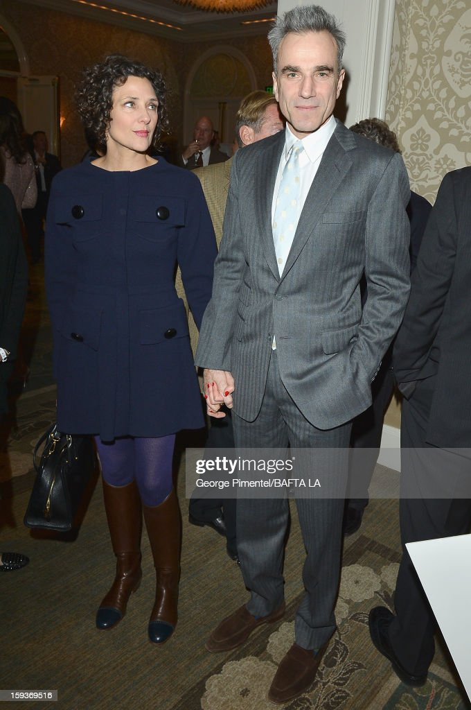 Actor Daniel Day-Lewis and wife, Rebecca Miller arrive at the BAFTA Los Angeles 2013 Awards Season Tea Party held at the Four Seasons Hotel Los Angeles on January 12, 2013 in Los Angeles, California.