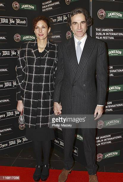Actor Daniel DayLewis and wife Rebecca Miller arrive for the Irish premiere of 'There Will Be Blood' as part of the Jameson Dublin International Film...