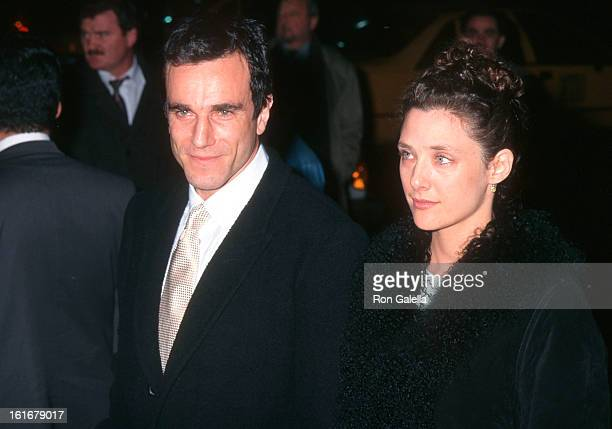 Actor Daniel DayLewis and wife Rebecca Miller attend 'The Crucible' New York City Premiere on November 25 1996 at the Gotham Cinemas in New York City