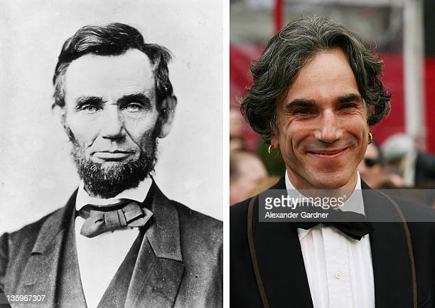 In this composite image a comparison has been made between Abraham Lincoln and Actor Daniel DayLewis Oscar hype begins this week with the...