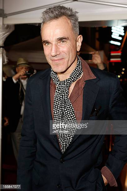 """Actor Daniel Day-Lewis arrives at the """"Lincoln"""" closing night gala premiere during AFI Fest 2012 at Grauman's Chinese Theatre on November 8, 2012 in..."""