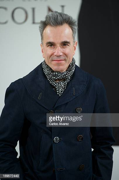 Actor Daniel DayLewis attends the 'Lincoln' photocall at 'Casa de America' on January 16 2013 in Madrid Spain