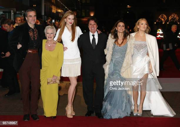 Actor Daniel Day-Lewis, Dame Judi Dench, Nicole Kidman, Director Rob Marshall, Penelope Cruz, and Kate Hudson attend the World Premiere of 'Nine' at...