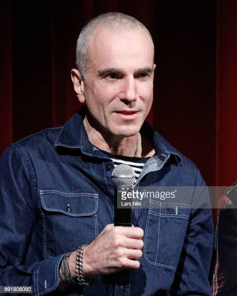 Actor Daniel DayLewis on stage during The Academy of Motion Picture Arts Sciences Official Academy Screening of Phantom Thread at MOMA on December 12...
