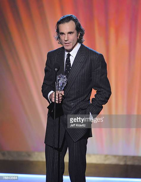 Actor Daniel Day-Lewis onstage at the 13th ANNUAL CRITICS' CHOICE AWARDS at the Santa Monica Civic Auditorium on January 7, 2008 in Santa Monica,...