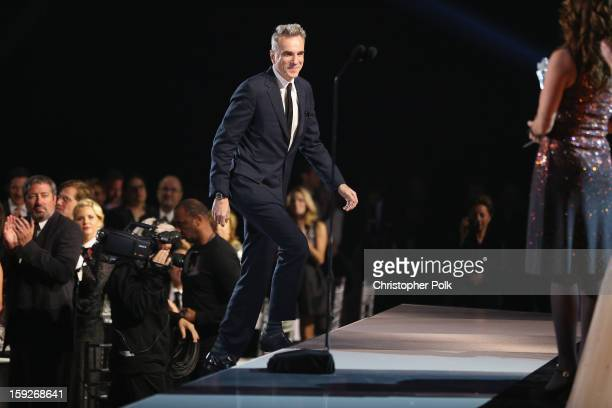 Actor Daniel DayLewis onstage at the 18th Annual Critics' Choice Movie Awards held at Barker Hangar on January 10 2013 in Santa Monica California