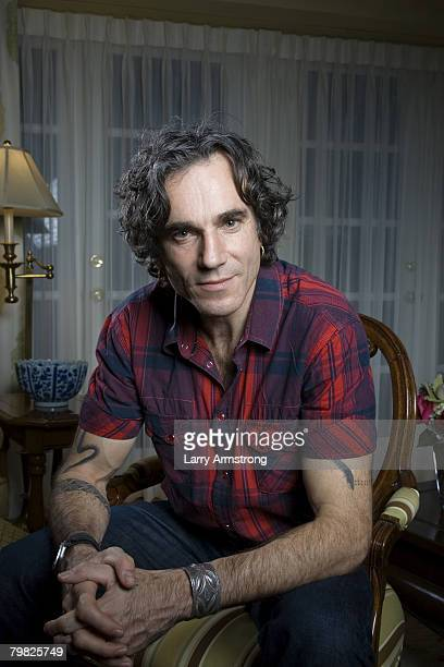 Actor Daniel DayLewis poses at a portrait session in Los Angeles CA