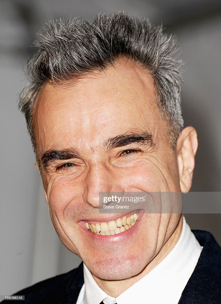 Actor Daniel Day-Lewis poses in the press room during the 18th Annual Critics' Choice Movie Awards at The Barker Hanger on January 10, 2013 in Santa Monica, California.